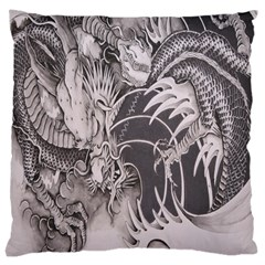 Chinese Dragon Tattoo Large Cushion Case (two Sides)