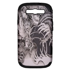 Chinese Dragon Tattoo Samsung Galaxy S Iii Hardshell Case (pc+silicone)