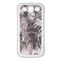 Chinese Dragon Tattoo Samsung Galaxy S3 Back Case (white)
