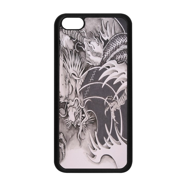 Chinese Dragon Tattoo Apple iPhone 5C Seamless Case (Black)