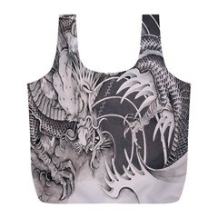 Chinese Dragon Tattoo Full Print Recycle Bags (l)
