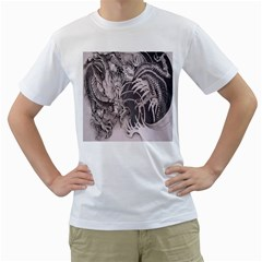 Chinese Dragon Tattoo Men s T Shirt (white)