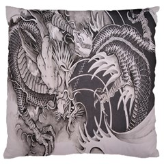 Chinese Dragon Tattoo Large Flano Cushion Case (one Side)