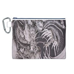 Chinese Dragon Tattoo Canvas Cosmetic Bag (l)