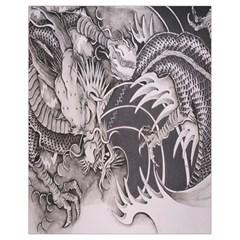 Chinese Dragon Tattoo Drawstring Bag (small)
