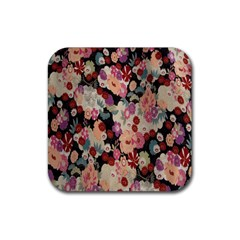 Japanese Ethnic Pattern Rubber Square Coaster (4 Pack)