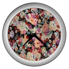 Japanese Ethnic Pattern Wall Clocks (silver)