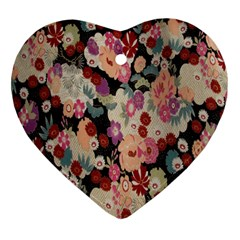 Japanese Ethnic Pattern Heart Ornament (two Sides)