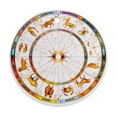 Zodiac  Institute Of Vedic Astrology Ornament (round)