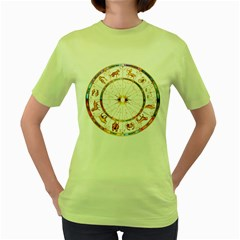 Zodiac  Institute Of Vedic Astrology Women s Green T Shirt
