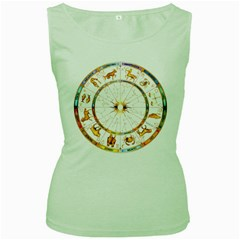 Zodiac  Institute Of Vedic Astrology Women s Green Tank Top