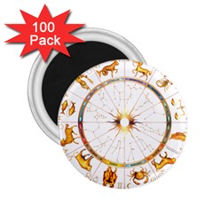 Zodiac  Institute Of Vedic Astrology 2 25  Magnets (100 Pack)