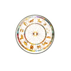 Zodiac  Institute Of Vedic Astrology Hat Clip Ball Marker (10 Pack)