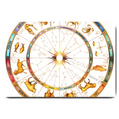 Zodiac  Institute Of Vedic Astrology Large Doormat