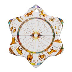 Zodiac  Institute Of Vedic Astrology Ornament (snowflake)