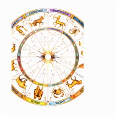Zodiac  Institute Of Vedic Astrology Small Garden Flag (two Sides)