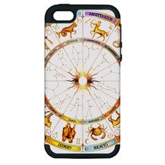 Zodiac  Institute Of Vedic Astrology Apple Iphone 5 Hardshell Case (pc+silicone)