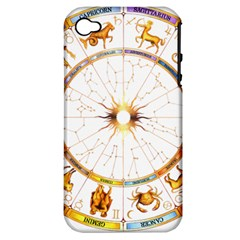 Zodiac  Institute Of Vedic Astrology Apple Iphone 4/4s Hardshell Case (pc+silicone)