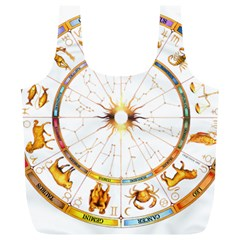 Zodiac  Institute Of Vedic Astrology Full Print Recycle Bags (l)