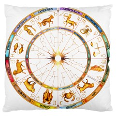 Zodiac  Institute Of Vedic Astrology Standard Flano Cushion Case (one Side)