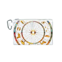 Zodiac  Institute Of Vedic Astrology Canvas Cosmetic Bag (s)