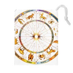 Zodiac  Institute Of Vedic Astrology Drawstring Pouches (extra Large)