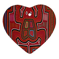 Frog Pattern Heart Ornament (two Sides)