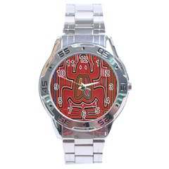 Frog Pattern Stainless Steel Analogue Watch