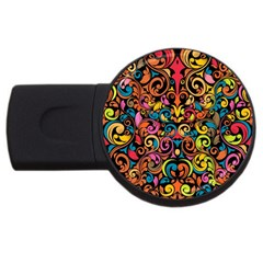 Art Traditional Pattern Usb Flash Drive Round (2 Gb)