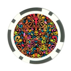 Art Traditional Pattern Poker Chip Card Guard (10 Pack)