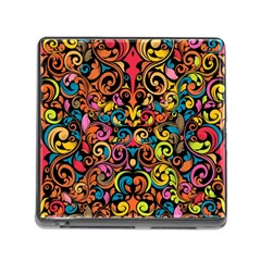 Art Traditional Pattern Memory Card Reader (square)