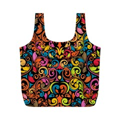 Art Traditional Pattern Full Print Recycle Bags (m)