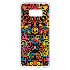 Art Traditional Pattern Samsung Galaxy S8 Plus White Seamless Case