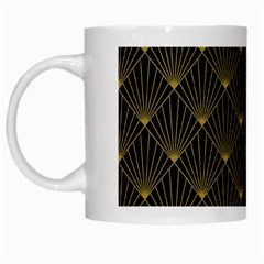 Abstract Stripes Pattern White Mugs