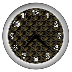 Abstract Stripes Pattern Wall Clocks (silver)