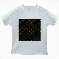 Abstract Stripes Pattern Kids White T Shirts