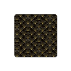 Abstract Stripes Pattern Square Magnet