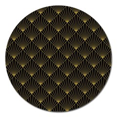 Abstract Stripes Pattern Magnet 5  (round)