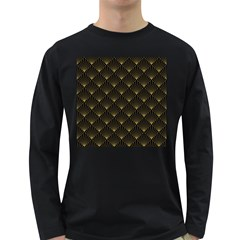 Abstract Stripes Pattern Long Sleeve Dark T Shirts