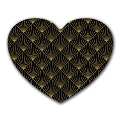 Abstract Stripes Pattern Heart Mousepads
