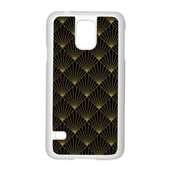 Abstract Stripes Pattern Samsung Galaxy S5 Case (white)