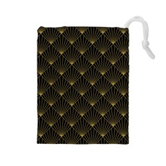 Abstract Stripes Pattern Drawstring Pouches (large)