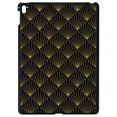 Abstract Stripes Pattern Apple Ipad Pro 9 7   Black Seamless Case