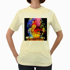 Chinese Zodiac Signs Women s Yellow T Shirt