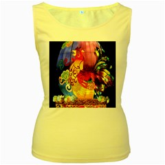 Chinese Zodiac Signs Women s Yellow Tank Top