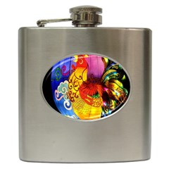 Chinese Zodiac Signs Hip Flask (6 Oz)