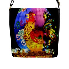 Chinese Zodiac Signs Flap Messenger Bag (l)