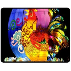 Chinese Zodiac Signs Double Sided Fleece Blanket (medium)