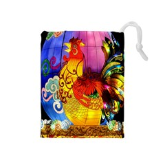 Chinese Zodiac Signs Drawstring Pouches (medium)