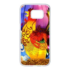 Chinese Zodiac Signs Samsung Galaxy S7 Edge White Seamless Case